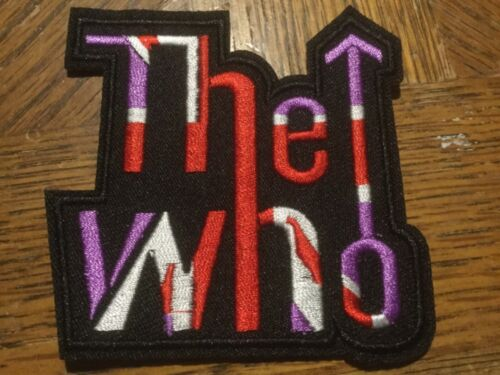"""Sew or Iron On Rock The Who Embroidered Patch 3.25"""" x 3.25"""""""