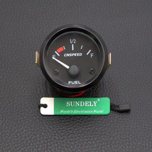 "Universal Car Car Fuel Level Gauge Meter With Fuel Sensor E-1//2-F Pointer 2/""52mm"