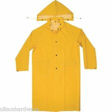 """Brand New Size X-Large YELLOW RAINCOAT 35mil PVC Polyester 48/"""" RC100//XL"""