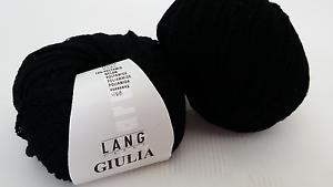 700 g GIULIA Lang Yarns Fb 4 schwarz Viskose Polyamid