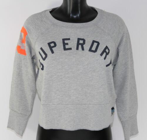 Größe M+L SuperDry Great Escape Grey GS6GU062 Bauchfrei Grau Woman NEU