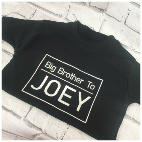Personalised Sibling T shirts Big Brother Little Brother T shirt Set,