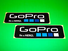 GO PRO GOPRO HERO 2 3 HD BLACK SILVER WHITE EDITION CAMERA STICKERS DECALS (^)