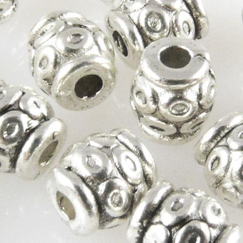15 metal perlas spacer laminado 6x5,5mm metal perlas bastones bastelperlen