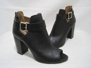 428180b61e0f FIONI Women s Size 9 Black Ankle Boots Buckle Zipper Block Heels ...