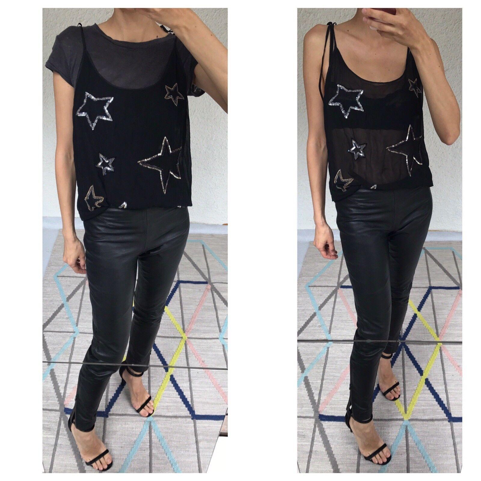 Australian Fashion Brand Gorman Silk Sequin Top Sz M