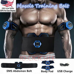 EMS-Abdominal-Muscle-Training-Gear-Stimulator-Toner-Core-Toning-ABS-Workout-Belt