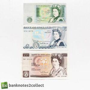 ENGLAND: Set of 3 English Pound Banknotes. Somerset.