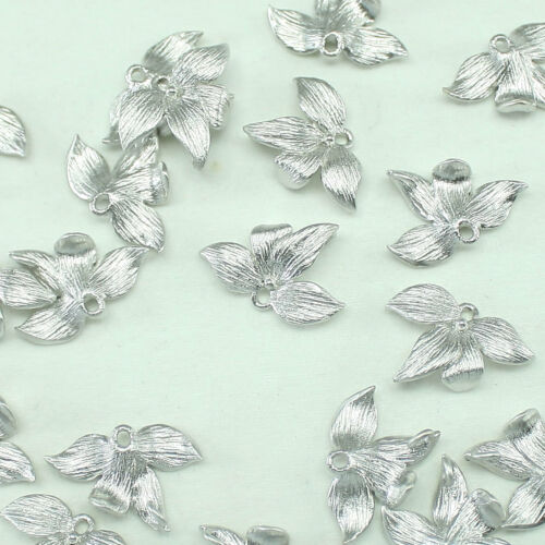 Leaf Metal Beads Pendants Gold Silver Beads for Jewelry Making Supplies #205