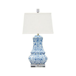 Blue-and-White-Floral-Porcelain-Chinese-Vase-Clear-Base-Table-Lamp-24-034