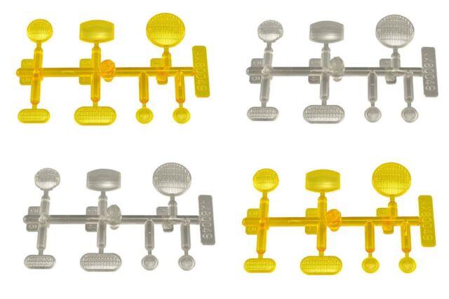 Conjunto de lente AXIAL LED amarillo claro 4pc se ajusta las lentes AX80049 titular de luz LED AX80045