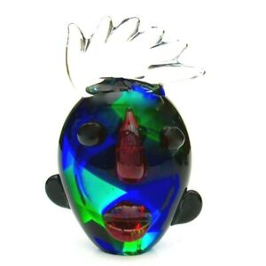 Unusual-Murano-Italian-Art-Glass-Abstract-Tribute-To-Picasso-Face-Sculpture