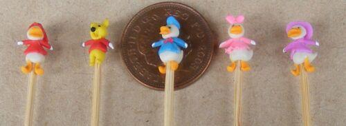 1:12 SCALA 5 hand made in polimero personaggi dei cartoni animati su un bastone tumdee casa delle bambole