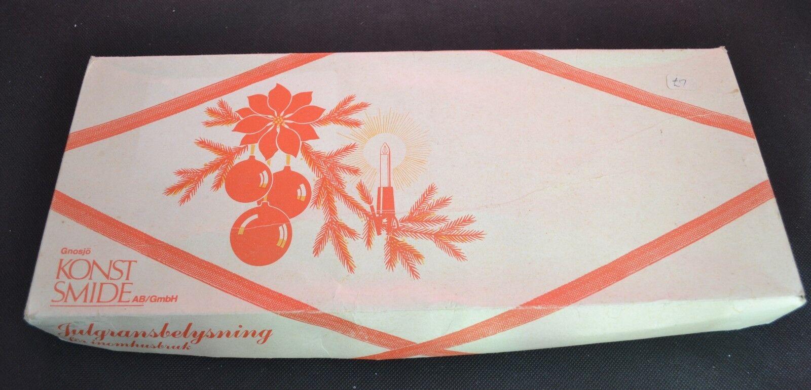 Plastique Smide Vintage Arbre Raccord Bougie Lumières type 1069 light set (2360)