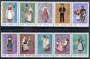 finland-1972-73-Ancient-and-National-Costumes-in-strips-MNH