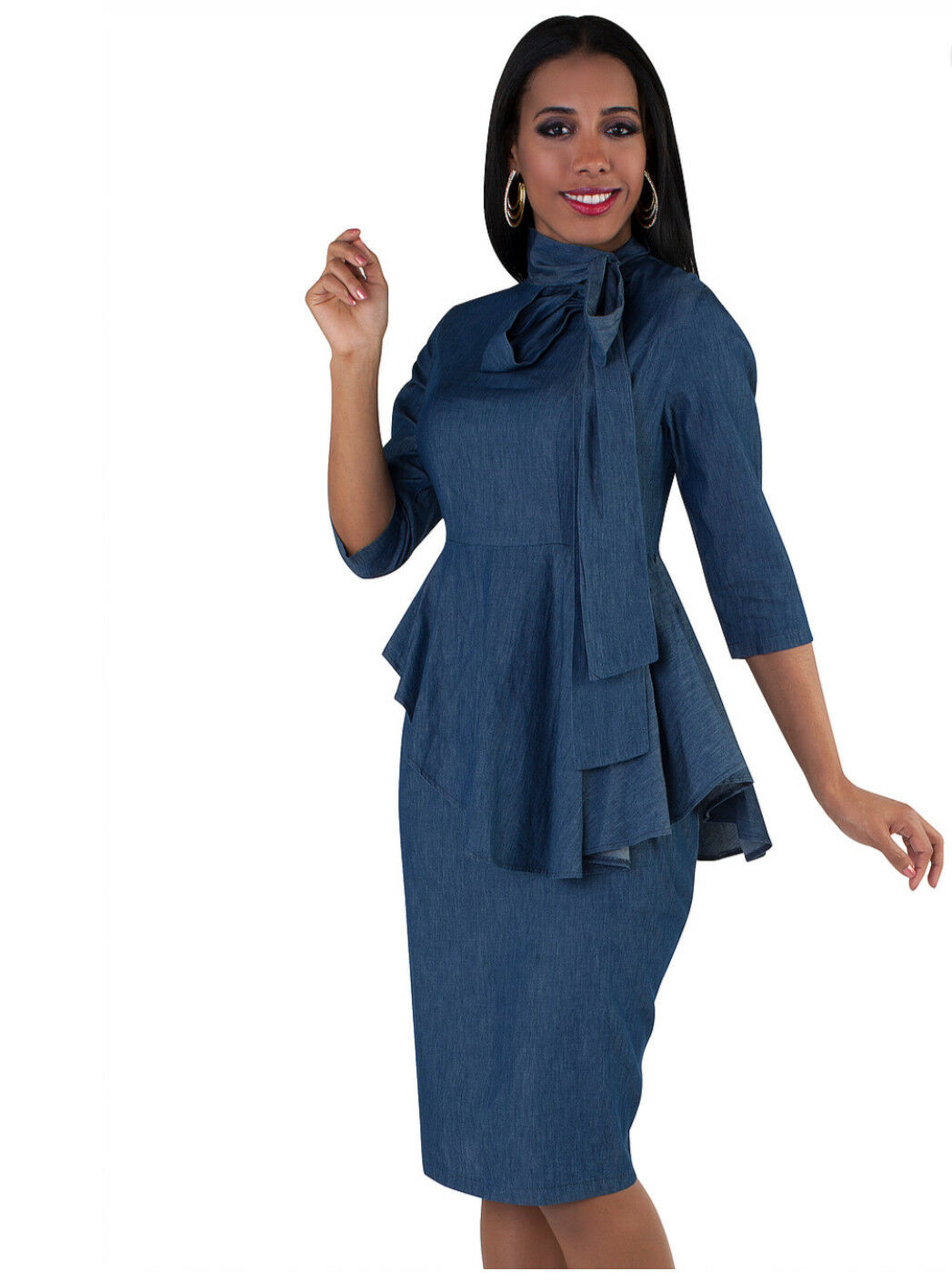For Her NYC by Tally Taylor Large bluee Denim Dress