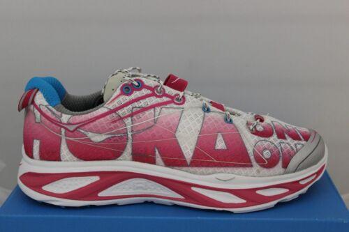 Women/'s Hoka One One Running Shoes Huaka White//Pink//Grey 20609030 Brand New!!!