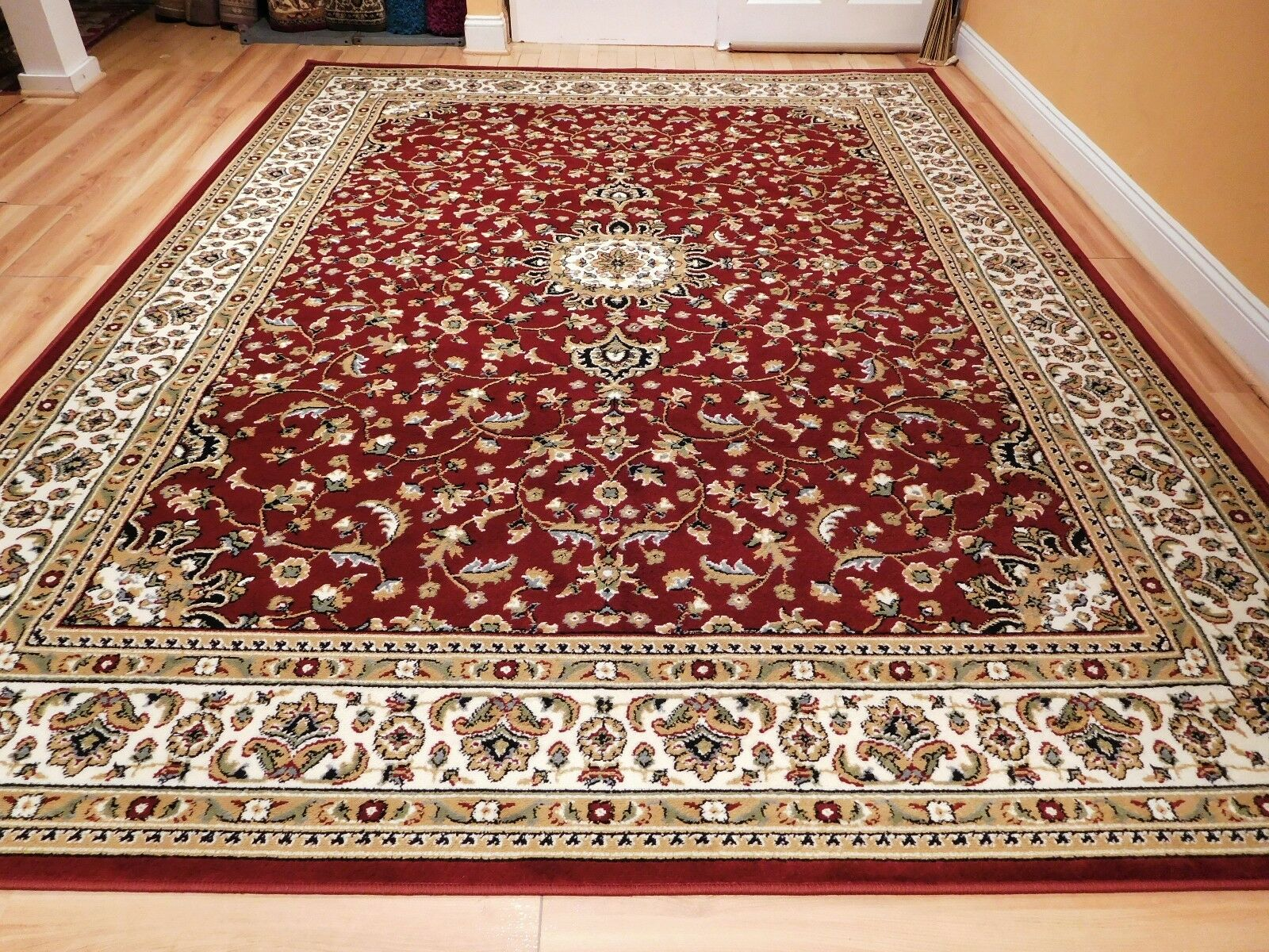 Hand Tufted Printed Red Traditional Floral Rug 8 X 10 For Sale Online Ebay