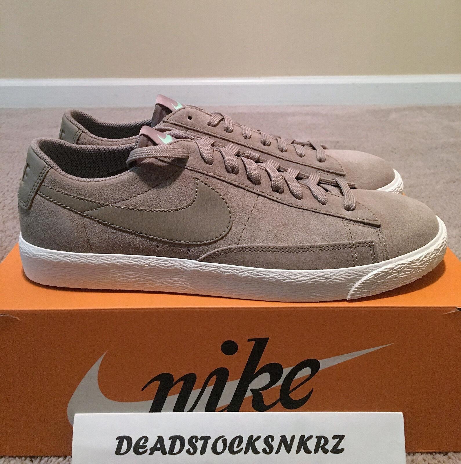 Nike Blazer Low Khaki Fresh Mint 371760 208 Men's Sizes 9.5-12