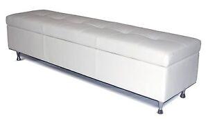 Wondrous Details About Contemporary King White Genuine Leather Tufted Storage Bench Chest Ottoman Inzonedesignstudio Interior Chair Design Inzonedesignstudiocom