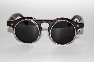 New-90-039-s-Vintage-Style-John-Lennon-Black-Lenses-Tortoise-Frame-Unisex-Sunglasses