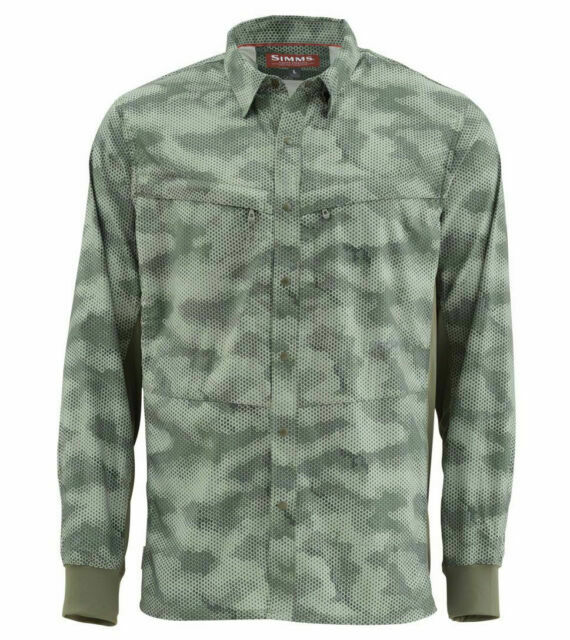 Simms EBBTIDE Long Sleeve Shirt ~ NEW Putty ~ Size Small ~ CLOSEOUT