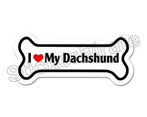 Dog-Bone-Magnet-I-Love-My-Dachshund-Car-Truck-Locker