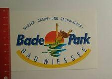 Aufkleber/Sticker: Bade Park Bad Wiessee Wasser Dampf und Sauna (051016191)