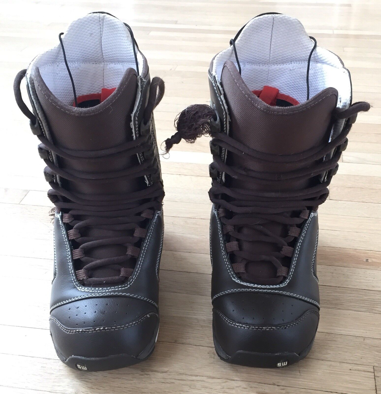 MEN'S 7- BURTON - SHAUN WHITE - Brown SNOWBOARD BOOTS shoes Winter Snow Gear