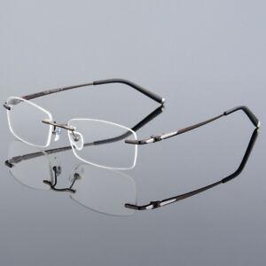 cc4e238dd5 LE 100% Pure Titanium Men s Eyeglass Frame Optical Myopia Glasses ...