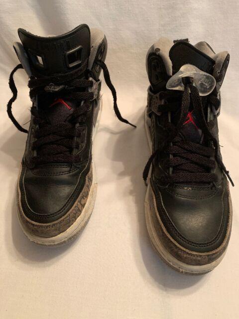 hurtownia online Najlepsze miejsce super słodki Air Jordan Spizike GS 317321 034 Black Cement Gray Size 6.5 Youth Pre-owned