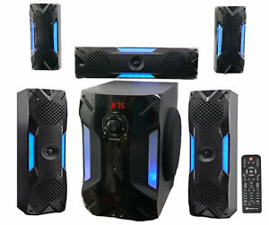 Rockville-HTS56-1000w-5-1-Channel-Home-Theater-System-Bluetooth-USB-8-034-Subwoofer