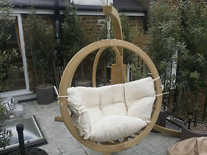 Image Is Loading Wooden Swing Pod With Frame Swinging Chair Garden