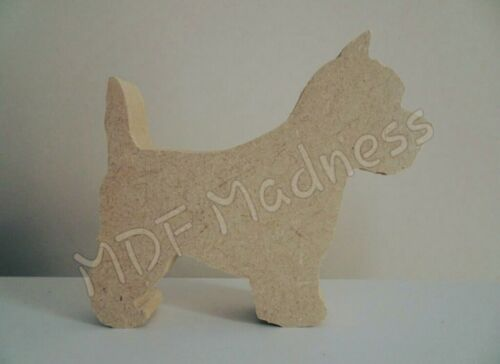 MDF CRAFT SHAPE WOODEN WESTIE DOG