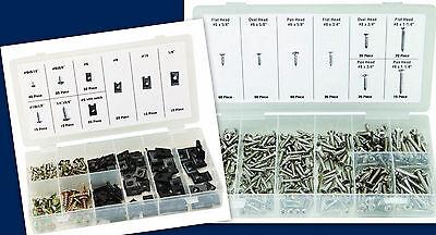 490 KIT 320 STAINLESS STEEL SCREWS /& 170 U-CLIP /& SCREW ASSORTMENT AUTO TRUCK RV