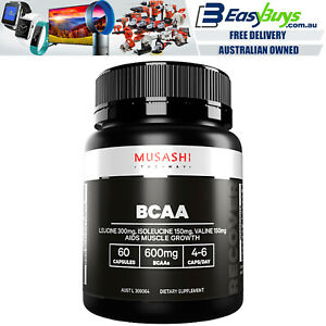 Musashi-BCAA-60-Capsules-PRO-Strength-Big-Muscle-Growth-Gains-Amino-Acid-Protein