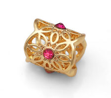 Gold Filigree European Beads, Filigree Charms For European Bracelets