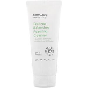 Aromatica Tea Tree Balancing Foaming Cleanser 6 3 Oz 180 G