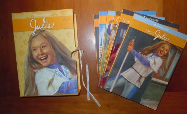 Set 6 Books American Girl Julie 1974 with Keepsake Box LikeNew