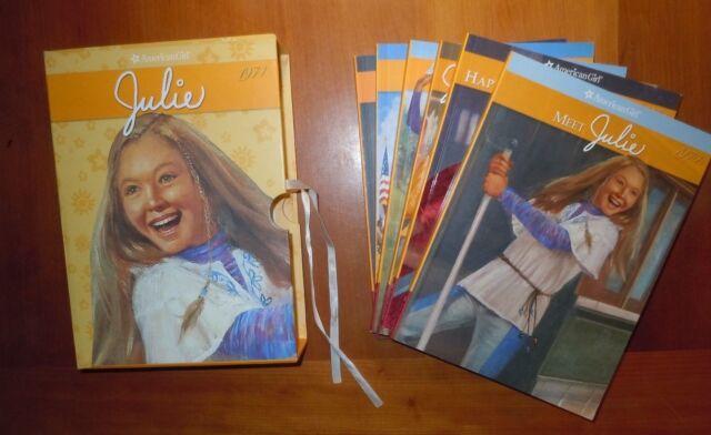 Set 6 Books American Girl Julie 1974 with Keepsake Box LikeNew