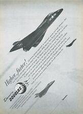 1951 Douglas Aircraft Ad XF4D Skyray Jet Fighter Navy USN Bat Wing