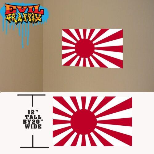 Rising Sun Vinyl decal, Japanese Rising Sun vinyl stickers Rising Sun decal