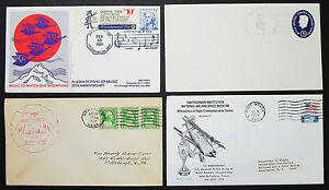 US-Postage-Set-of-4-Covers-Letters-Smithsonian-Stamp-GS-FDC-USA-Letters-H-8309