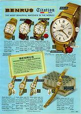 1960 PAPER AD 2 Sided Benrus Wrist Watch Prince Chales Z Golden Citation Convair