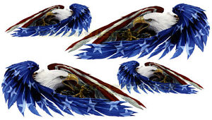 American Usa Flag Eagle Decal Sticker Emblem Graphic Helmet