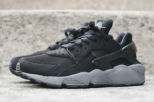 nike huarache black and gray