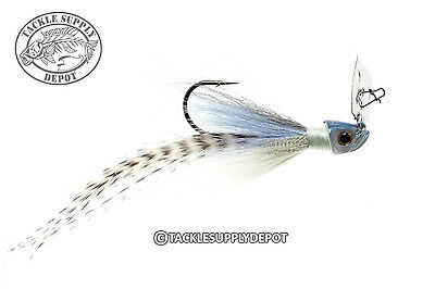 Picasso Special FX Shock Blade Hair Feather Jig Blue Glimmer 3/8oz - Nickel