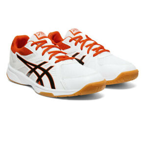 Asics Mens Gel-UpCourt 3 Indoor Court Shoes White Sports Squash Breathable