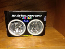 """4""""ROUND CLEAR HALOGEN LIGHTS DRIVING LAMPS WITH BLUE LED ANGEL EYE RINGS HL-2119"""