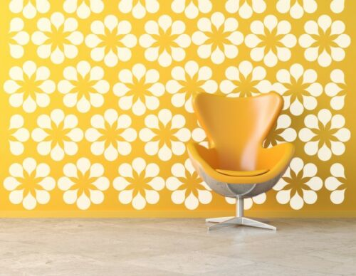 Daisy Wall Decal, Flower Wall Decals, Mid Century Modern, Retro Wall Decal